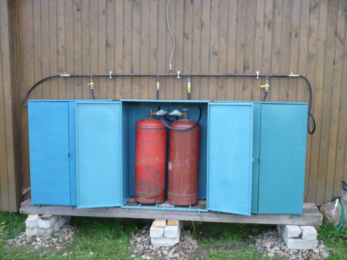 Как установить газ на даче своими руками 53